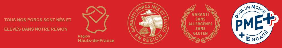 Porc garanti sans allergènes sans gluten